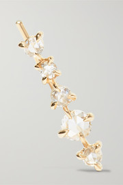 Snow Queen gold diamond earring