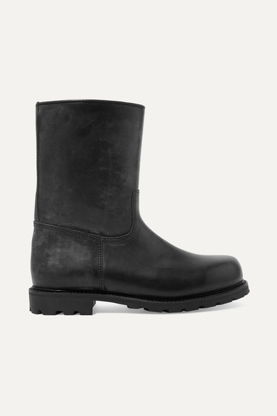 LUDWIG REITER Arlbergerin Shearling-Lined Leather Boots in Black
