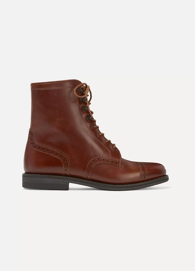 LUDWIG REITER Mary Vetsera Leather Ankle Boots in Brown