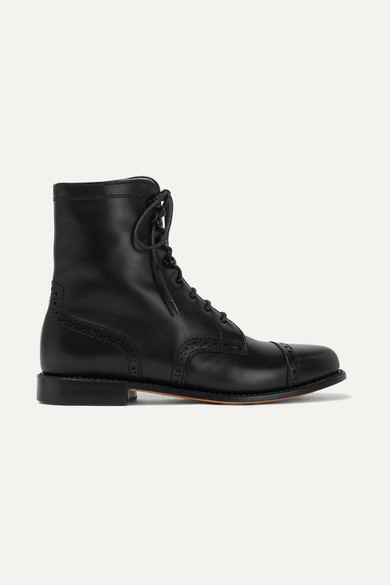 LUDWIG REITER Mary Vetsera Leather Ankle Boots in Black