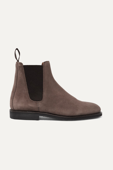LUDWIG REITER Suede Chelsea Boots in Light Brown