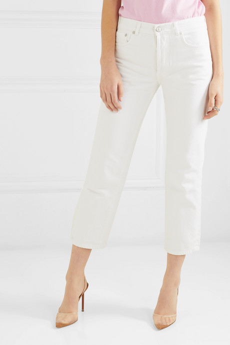 Slouch cropped mid-rise straight-leg jeans