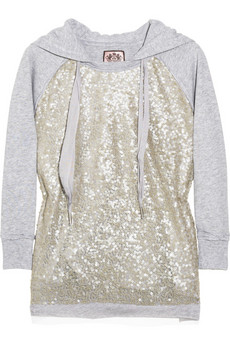 Juicy Couture Sequin-embellished hooded top