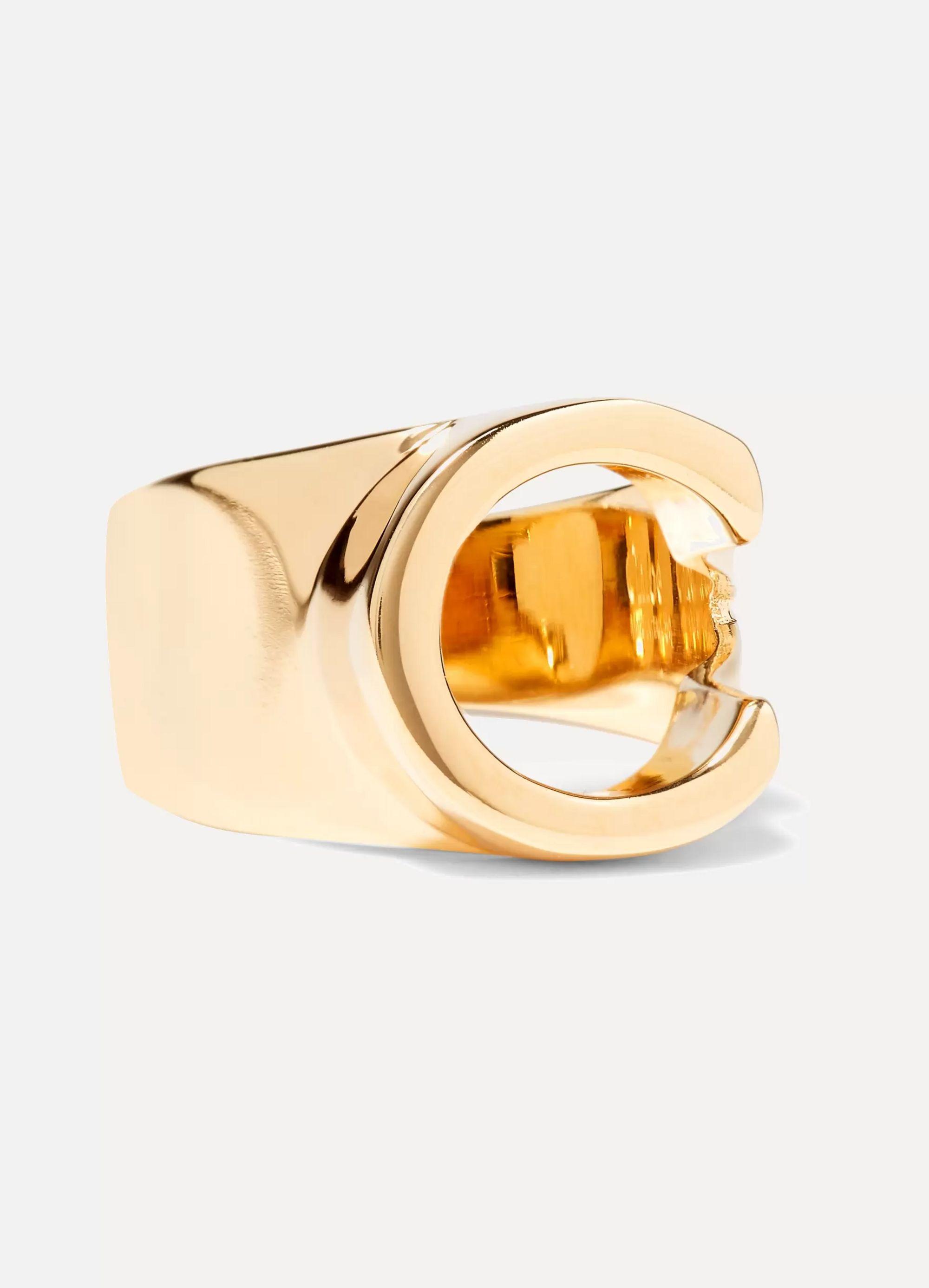 Chloé Alphabet gold-tone ring
