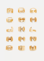Chloé Alphabet gold-tone ring