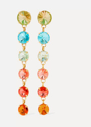 Roxanne Assoulin Technicolor gold-tone Swarovski crystal earrings