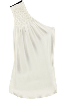 Preen | Sandwashed-silk fronted one-shoulder top | NET-A-PORTER.COM from net-a-porter.com
