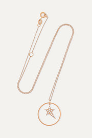 Star Charm 18-karat rose gold diamond necklace