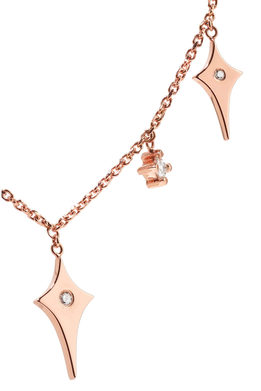 Diane Kordas Shield Kette aus 18 Karat Roségold mit Diamanten