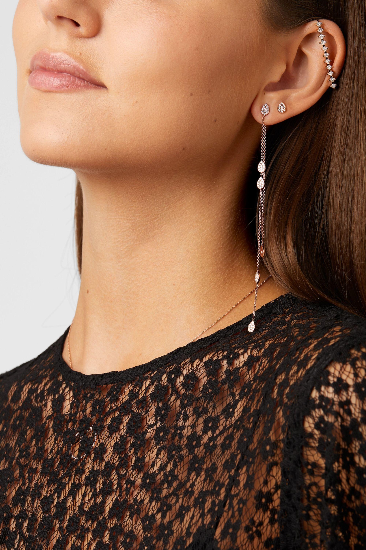 Diane Kordas Ohrringe aus 18Karat Roségold mit Diamanten