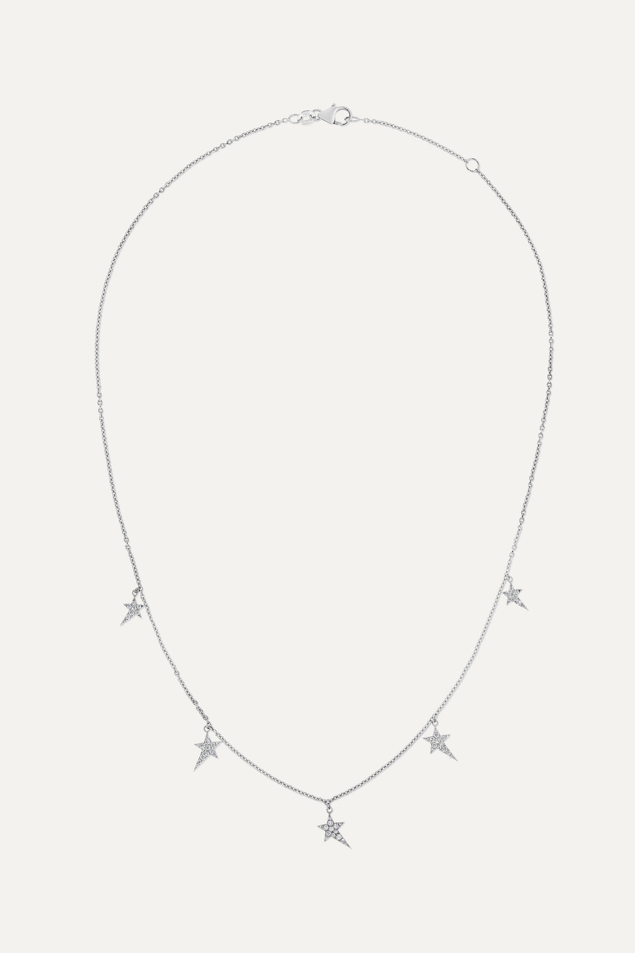 Diane Kordas 5 Star 18-karat white gold diamond necklace