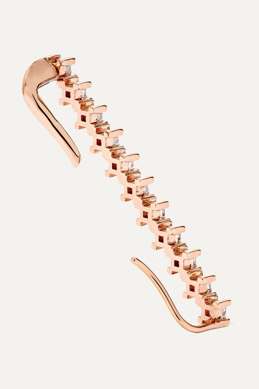 Diane Kordas Ear Cuff aus 18Karat Roségold mit Diamanten