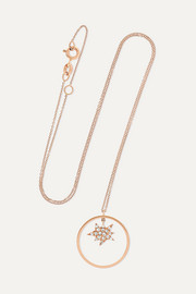 Explosion Charm 18-karat rose gold diamond necklace