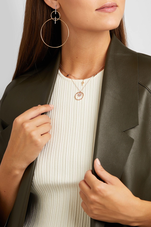 Diane Kordas Explosion Charm 18-karat rose gold diamond necklace