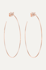 Explosion 18-karat rose gold diamond hoop earrings