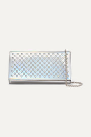 Christian Louboutin Boudoir spiked iridescent leather shoulder bag