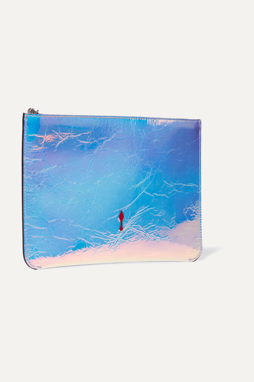 Christian Louboutin Loubicute iridescent textured-leather clutch