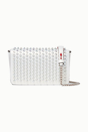 Christian Louboutin Zoompouch spiked iridescent leather shoulder bag
