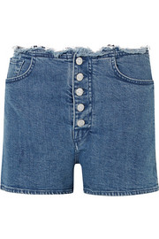 Short en jean effilé par 7 For All Mankind