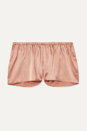 Silk-blend satin pajama shorts