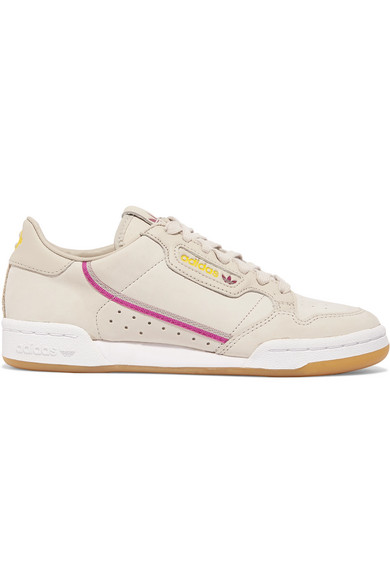 adidas Originals. + TFL Continental 80 canvas-trimmed leather sneakers 33c666934