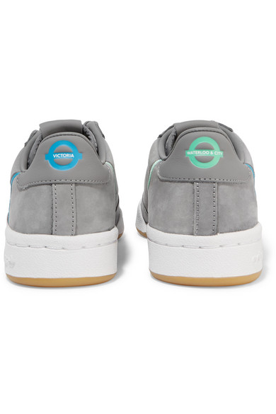 + TFL Continental 80 canvas-trimmed leather and suede sneakers