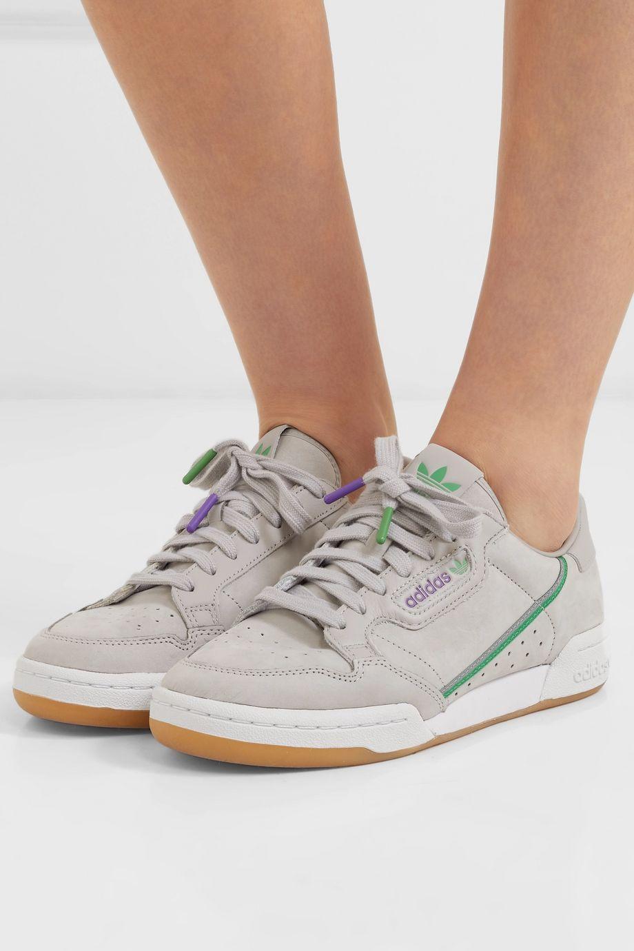 adidas Originals + TFL Continental 80 Sneakers aus Leder mit Ripsbandbesatz
