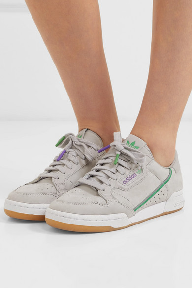 2443d5cb1d27 adidas Originals. + TFL Continental 80 grosgrain-trimmed leather sneakers