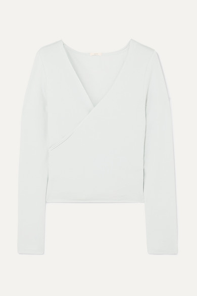 Eberjey Tops Odile Ballet stretch Pima cotton and modal-blend wrap top