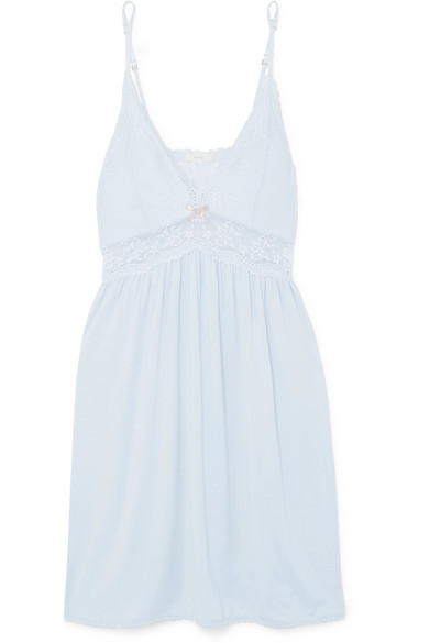 Eberjey Dresses COLETTE THE MADEMOISELLE LACE-TRIMMED STRETCH-MODAL JERSEY NIGHTDRESS