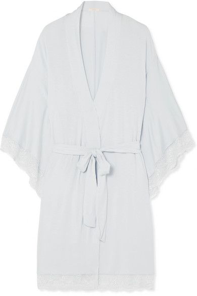 Eberjey Tops COLETTE THE MADEMOISELLE LACE-TRIMMED STRETCH-MODAL JERSEY ROBE