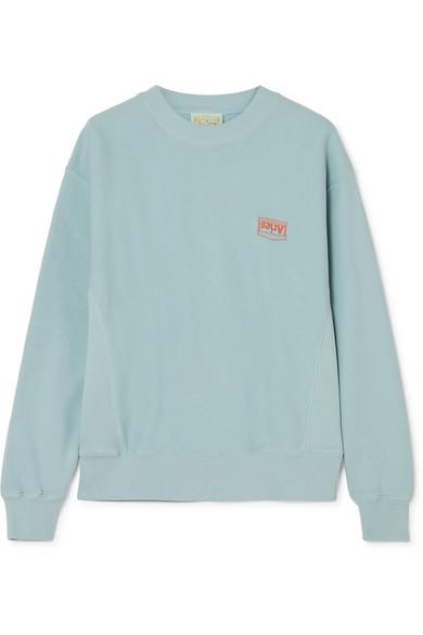 ARIES | Aries - Printed Cotton-jersey Sweatshirt - Light blue | Goxip