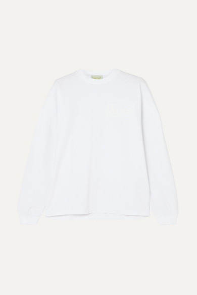 ARIES | Aries - Printed Cotton-jersey Top - White | Goxip