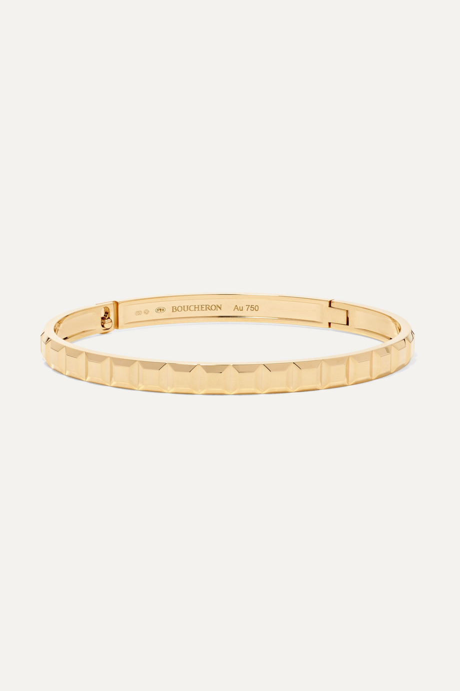 Boucheron Quatre Clou De Paris 18-karat gold bangle
