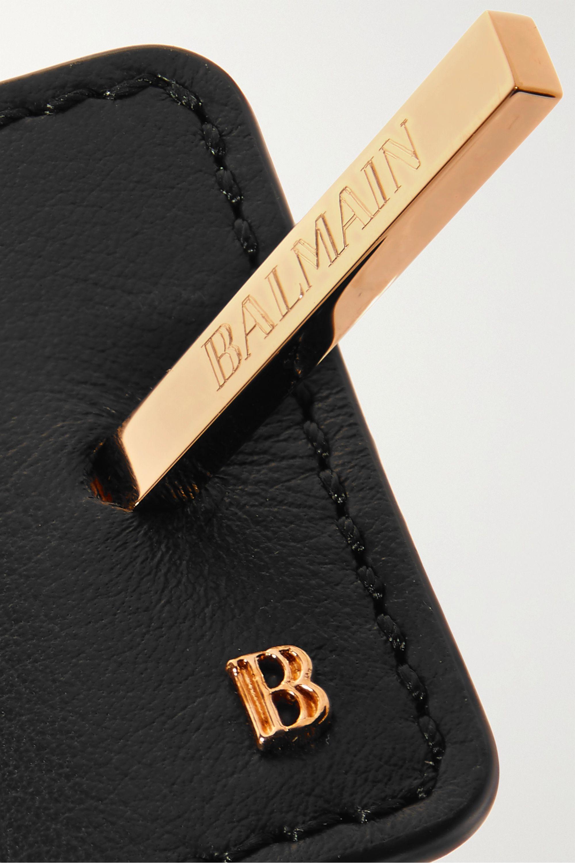 Balmain Paris Hair Couture Gold-tone and leather hairclip
