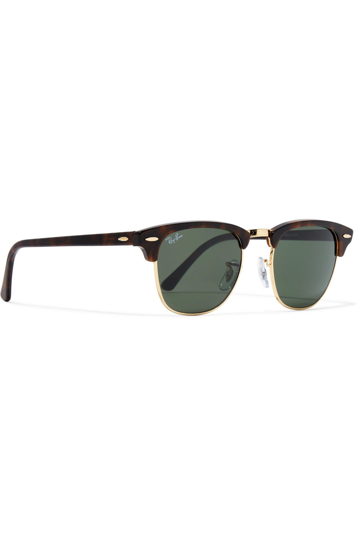 Ray-Ban Clubmaster tortoiseshell acetate and gold-tone sunglasses
