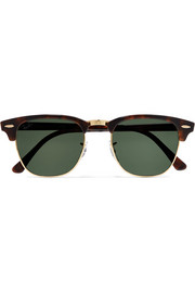 Clubmaster tortoiseshell acetate and gold-tone sunglasses