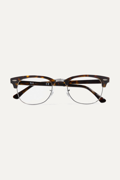 1da51dc098 Ray-Ban. Clubmaster acetate and silver-tone optical glasses