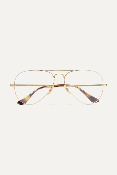 3fff775f2c52 Ray-Ban | Aviator gold-tone optical glasses | NET-A-PORTER.COM