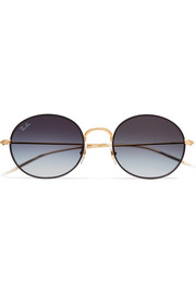 Beat round-frame gold-tone sunglasses