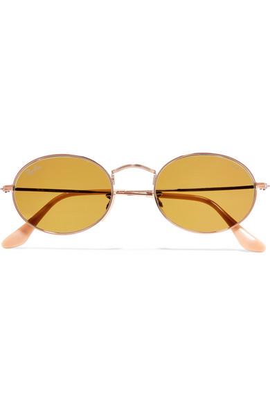 d58b0a33e09aac Ray-Ban   Oval-frame gold-tone sunglasses   NET-A-PORTER.COM