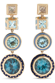 Alice Cicolini Candy 14-karat gold and enamel multi-stone earrings