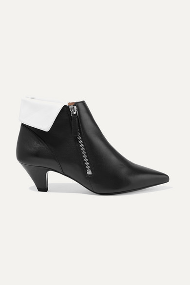 + Equipment Chrissie Two Tone Leather Ankle Boots by Tabitha Simmons