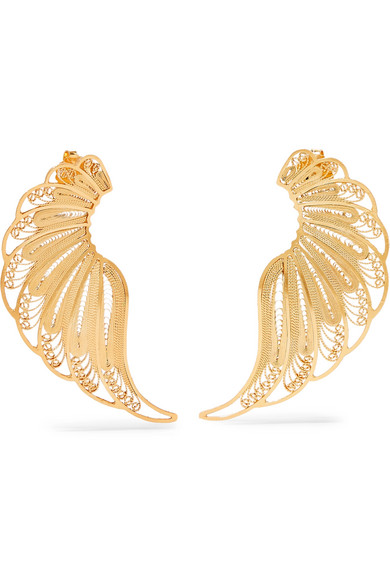 MALLARINO Violetta Gold Vermeil Earrings