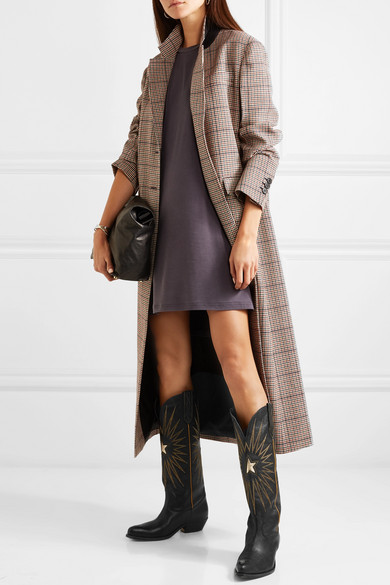 8fbb599ecaa Golden Goose | Wish Star embroidered textured-leather knee boots ...