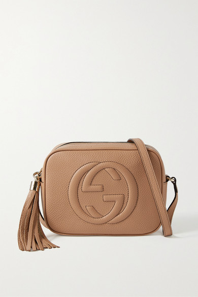 44b3061b6c Gucci Soho Disco Textured-Leather Shoulder Bag In 2754 Beige ...