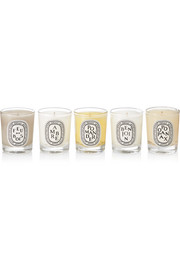 Feu de Bois, Ambre, Pomander, Benjoin and Opopanax set of five scented candles, 5 x 35g