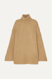 Charlotte wool and cashmere-blend turtleneck poncho