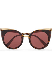 Cartier Eyewear Cat-eye tortoiseshell acetate and gold-tone sunglasses