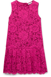 Ages 2 - 6 pleated lace dress